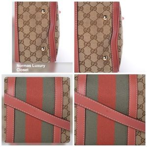 Gucci Bags - Pre-Owned Gucci Monogram Web Boston Two-Way Bag
